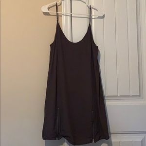 Grey dress with zippers
